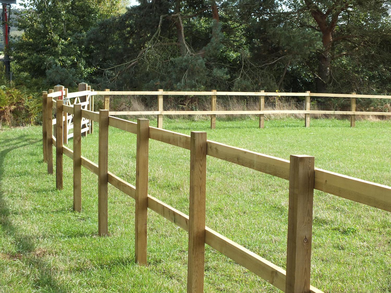 Wooden post rail fencing mark vigrass ltd